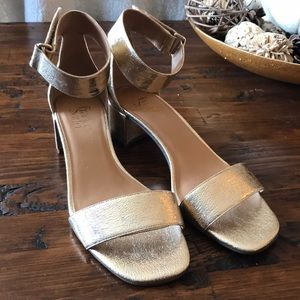 Franco Sarto Rosalina Leather Gold Sandals